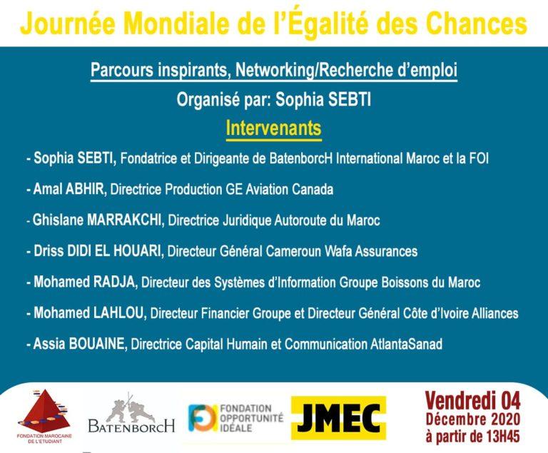 4 décembre | 13h45 – 16h30 | En ligne (Maroc) | Public